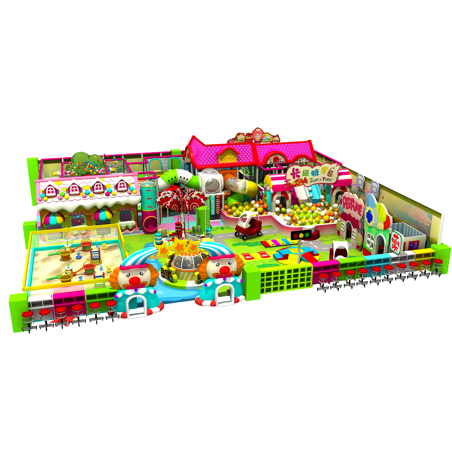 dream garden soft indoor playground equipment