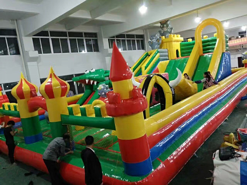 dream garden High Quality New Design Inflatable Bounce House With Water Slide For Outdoor Playground Price List