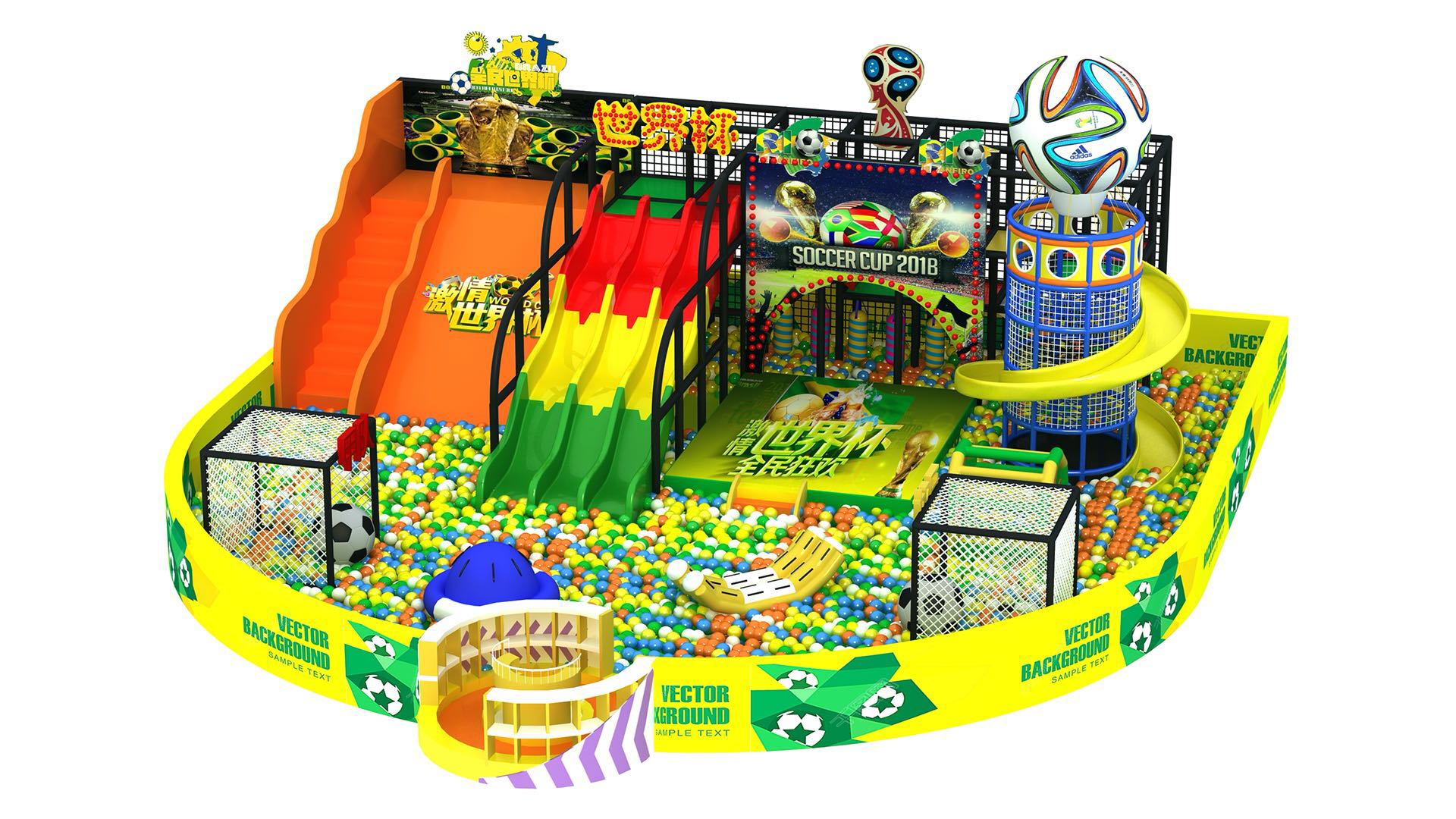 The 2018 FIFA World Cup, indoor playground theme