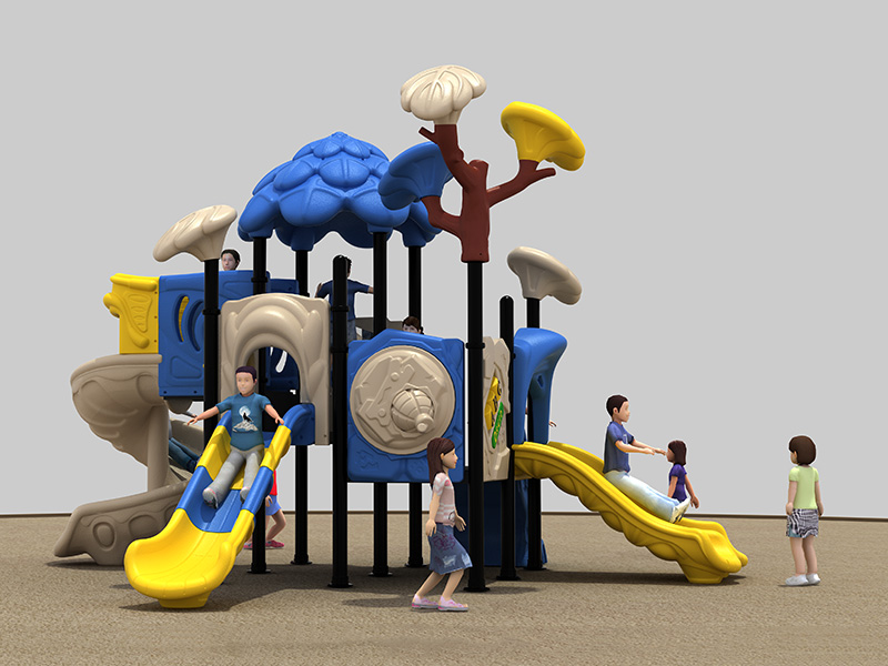 Safety outdoor rubber playground customized inclusive