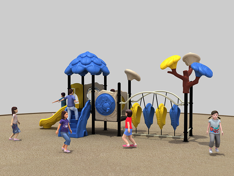 Simple outdoor rubber playground customized inclusive