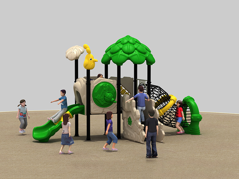dream garden log play structure made in china