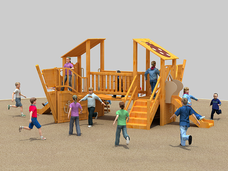 Commercial customized inclusive outdoor play equipment