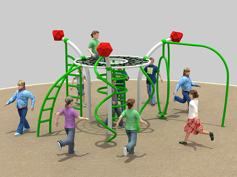 Outdoor physical training combined park equipment for school