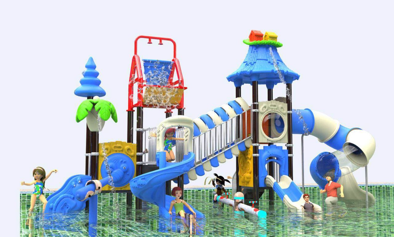 2018 new fiber glass slide for water park playground made in dream garden