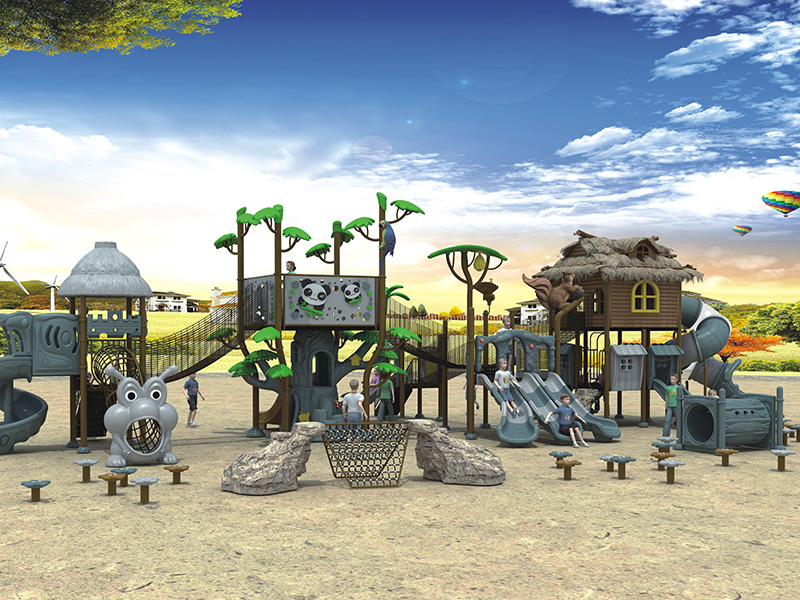 Thatched house theme series outdoor amusement park