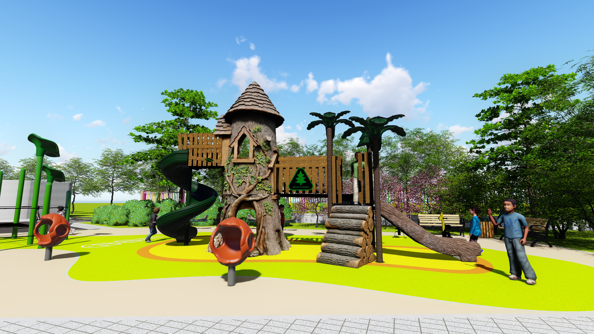 New outdoor playground design for park