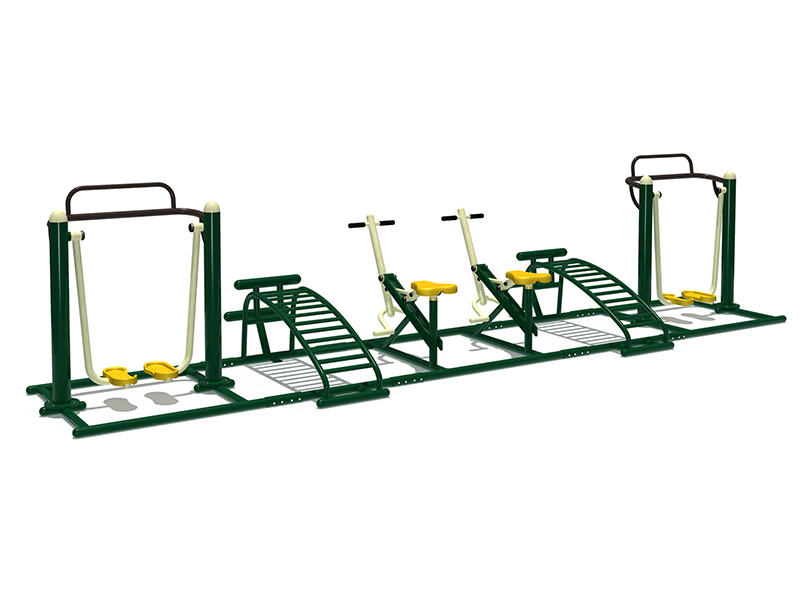 Combination outdoor playground  fitness equipment