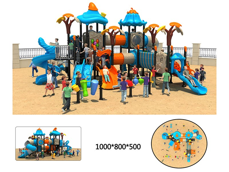 small outdoor playground with high quality for preschool