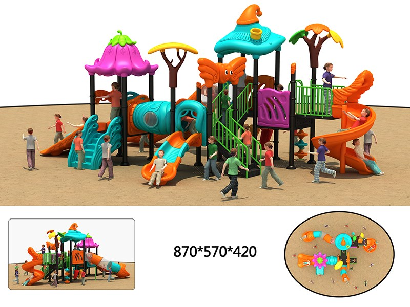 small outdoor playground with high quality for nursery