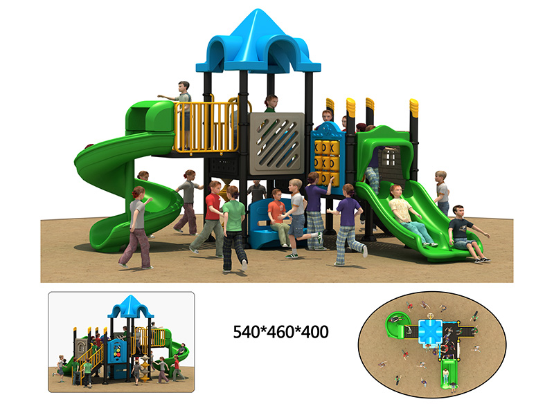 dream garden large spiral playground slide customized