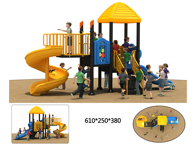 dream garden playground tube slide customized
