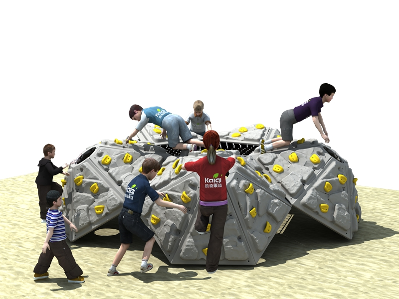 dream garden playground rock climbing wall trade company