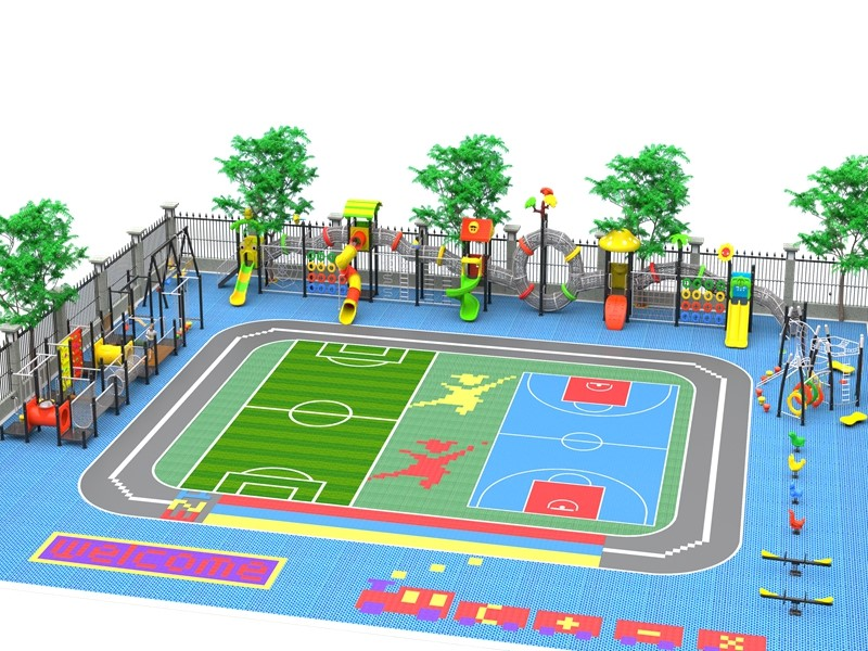 dream garden playground slide in chinese supplier