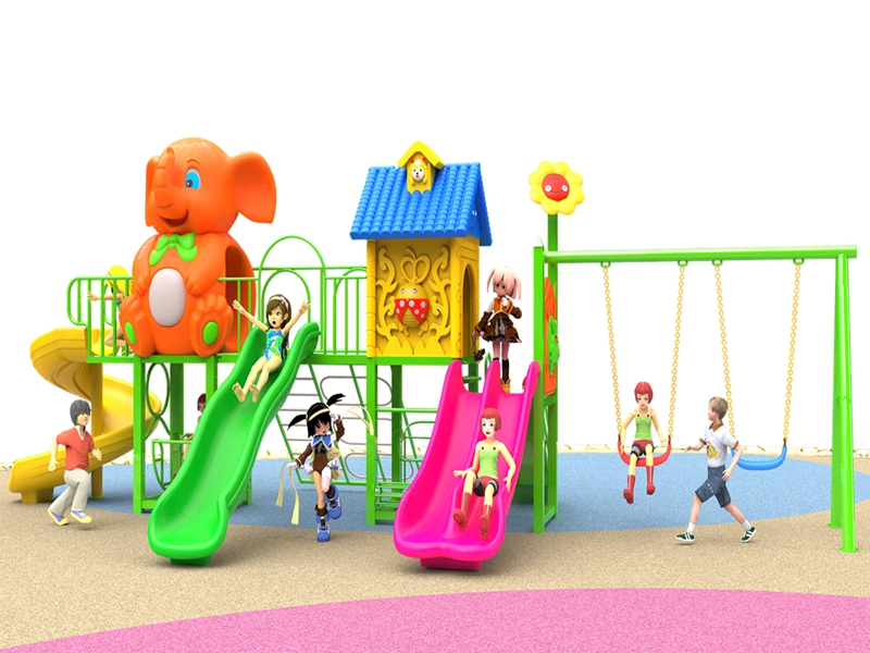 Newest Promotion children large plastic slide Outdoor playground