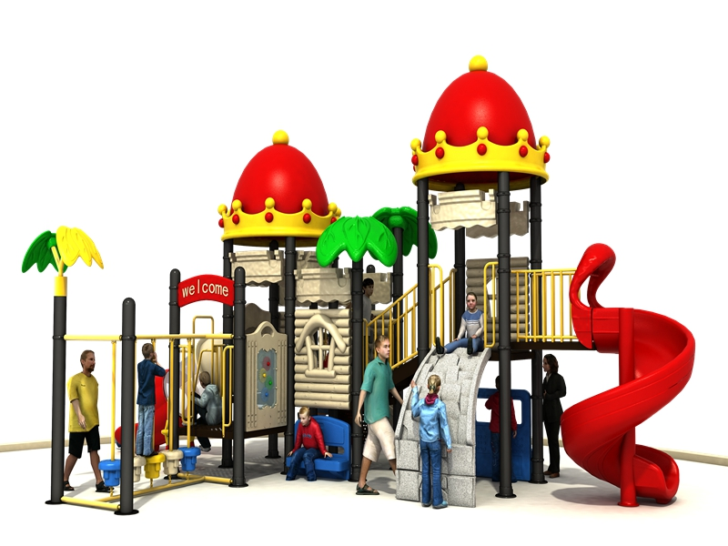Hot-selling high quality kids outdoor playground plastic slide equipment for kindergarten