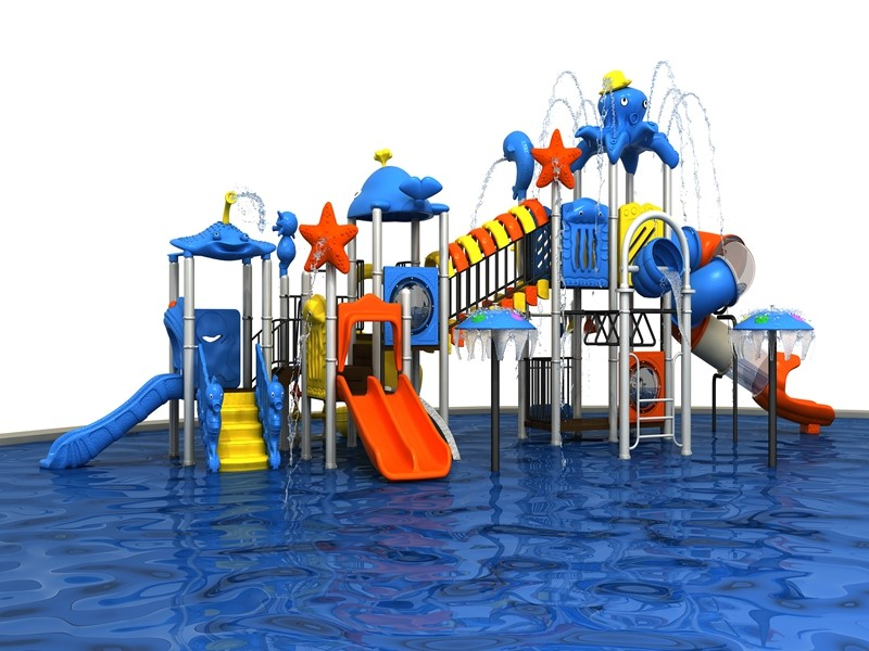 Outdoor water park design for kids