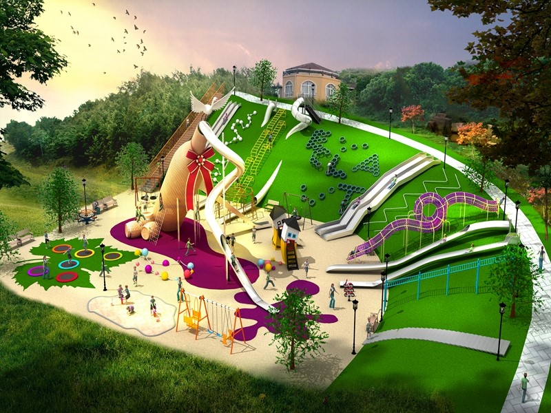 Dream garden children outdoor playground equipment for sales