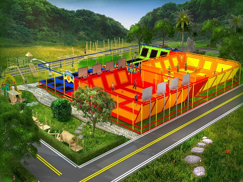 Children's outdoor customized inclusive playground made in china
