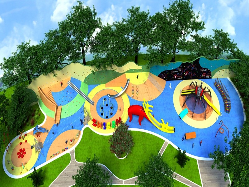 Dream garden outdoor customized inclusive playground equipment