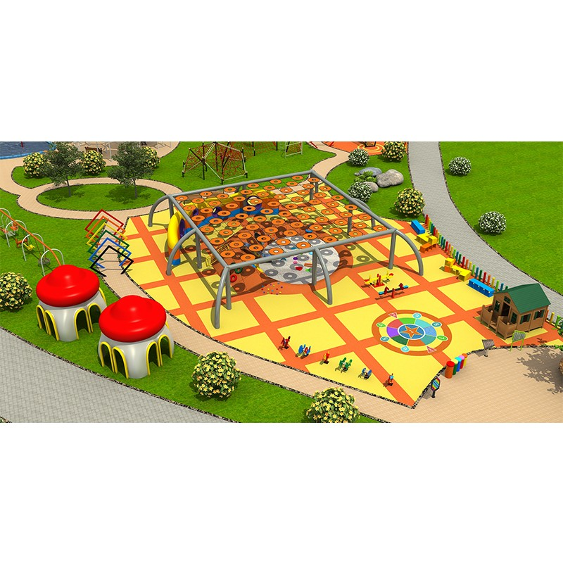 Inclusive outdoor play park design for kids